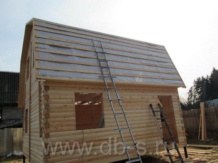Строительство дома из бруса с мансардой 6 на 6 Кимры, Тверская область фото 14