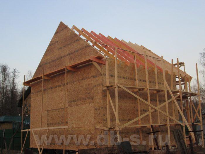 Строительство двухэтажного каркасного дома 8 на 8 Петергоф, Санкт-Петербург фото 15