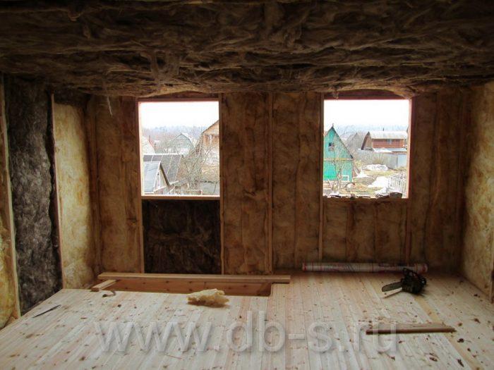 Строительство дома из бруса с мансардой 6 на 6 Кимры, Тверская область фото 18