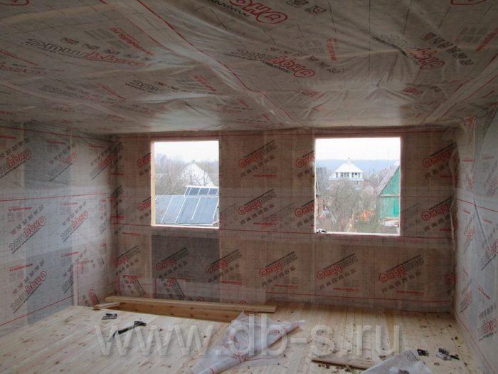 Строительство дома из бруса с мансардой 6 на 6 Кимры, Тверская область фото 21