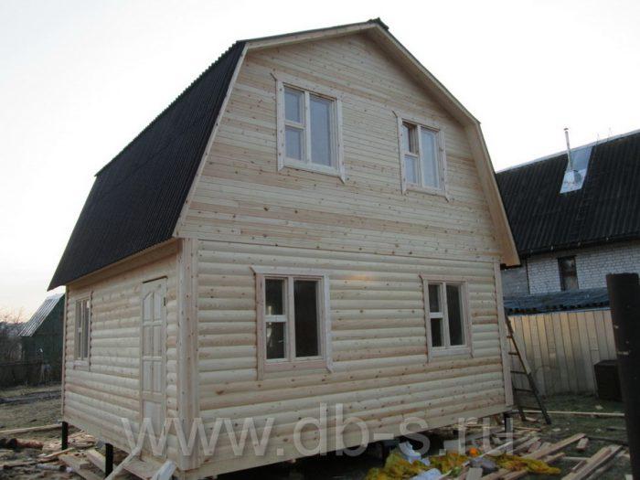 Строительство дома из бруса с мансардой 6 на 6 Кимры, Тверская область фото 1