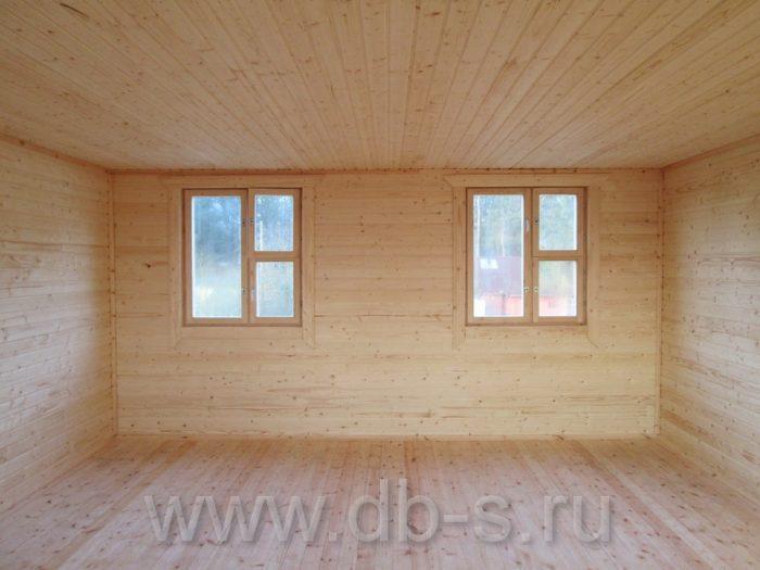 Строительство дома из бруса с мансардой 6 на 6 Кимры, Тверская область фото 23