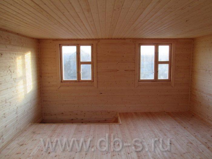 Строительство дома из бруса с мансардой 6 на 6 Кимры, Тверская область фото 24