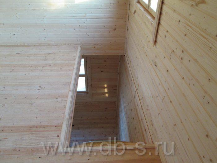 Строительство дома из бруса с мансардой 6 на 6 Кимры, Тверская область фото 25