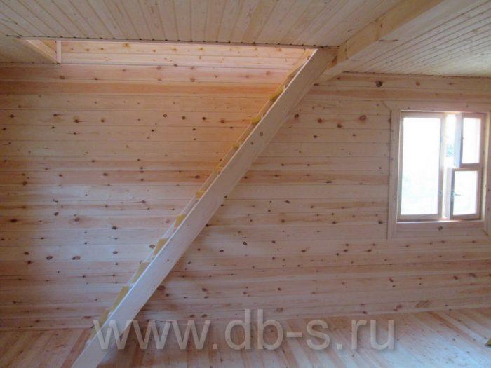 Строительство дома из бруса с мансардой 6 на 6 Кимры, Тверская область фото 26
