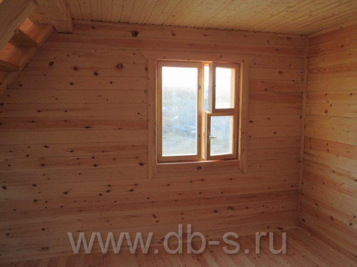 Строительство дома из бруса с мансардой 6 на 6 Кимры, Тверская область фото 27
