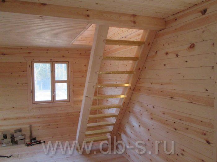 Строительство дома из бруса с мансардой 6 на 6 Кимры, Тверская область фото 28