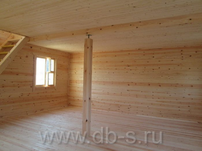 Строительство дома из бруса с мансардой 6 на 6 Кимры, Тверская область фото 31