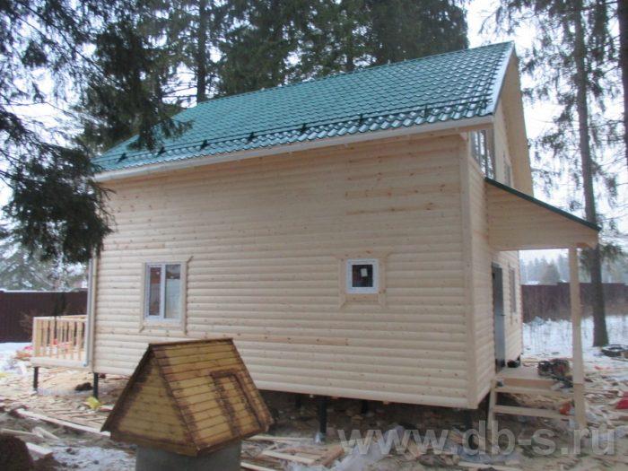 Строительство двухэтажного каркасного дома 8 на 8 Коломна, Московская область фото 5
