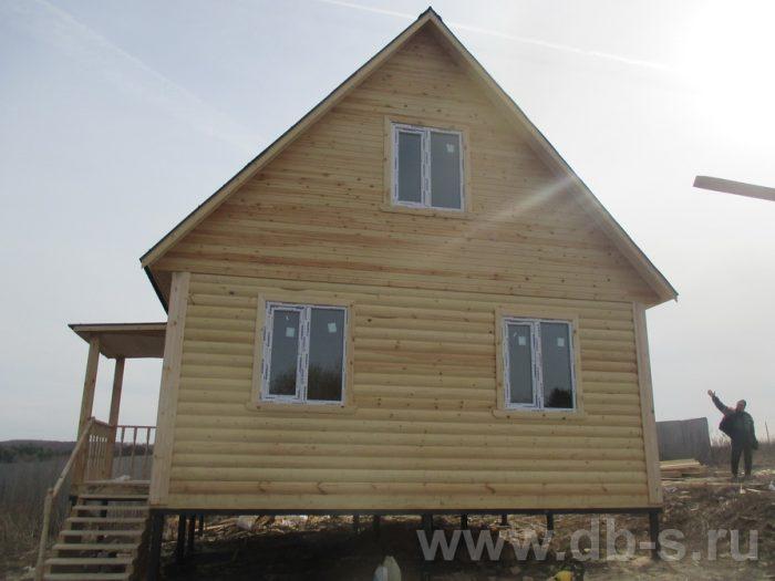 Строительство дома из бруса с мансардой 6 на 8 Алексин, Тульская область фото 1