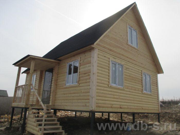 Строительство дома из бруса с мансардой 6 на 8 Алексин, Тульская область фото 2