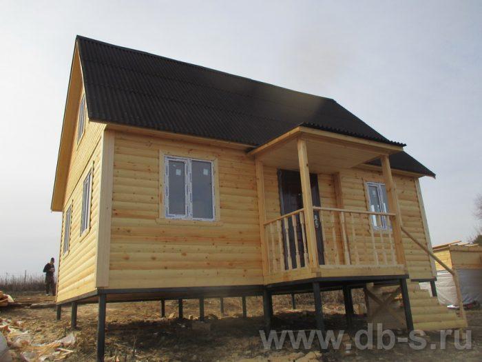 Строительство дома из бруса с мансардой 6 на 8 Алексин, Тульская область фото 3