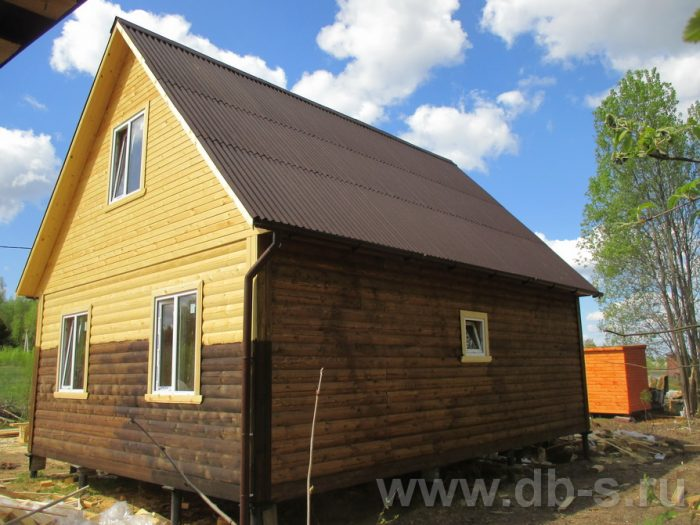 Строительство дома из бруса с мансардой 6 на 8 Тверь, Россия фото 3