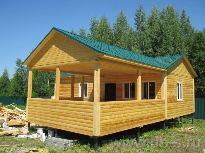 Строительство одноэтажной бани из бруса 6 на 11 Новомосковск, Тульская область фото 1