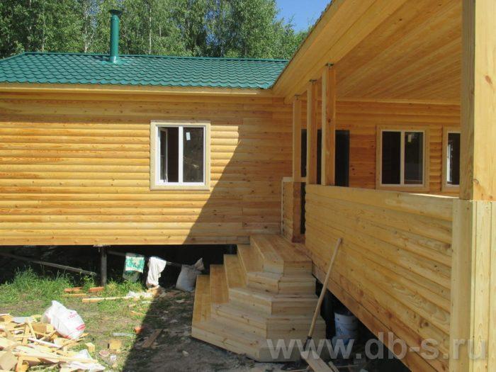 Строительство одноэтажной бани из бруса 6 на 11 Новомосковск, Тульская область фото 2
