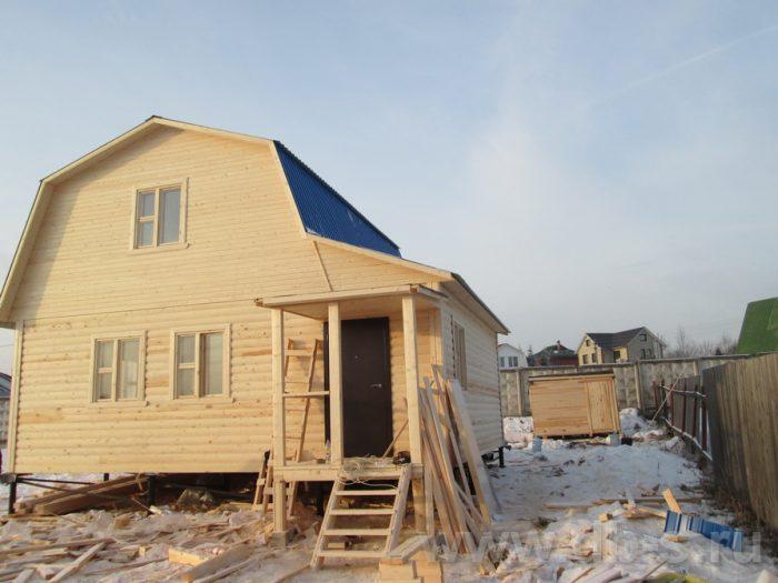 Строительство дома из бруса с мансардой 8 на 7 Сергиев Посад, Московская область фото 2