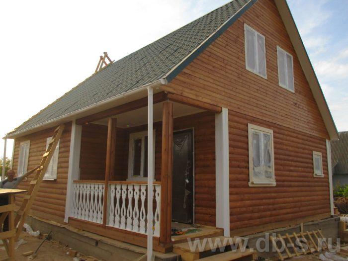 Строительство дома из бруса с мансардой 9 на 7.5 Могилёв, Беларусь фото 1