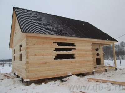 Строительство дома 7,5х9 г. Волхов