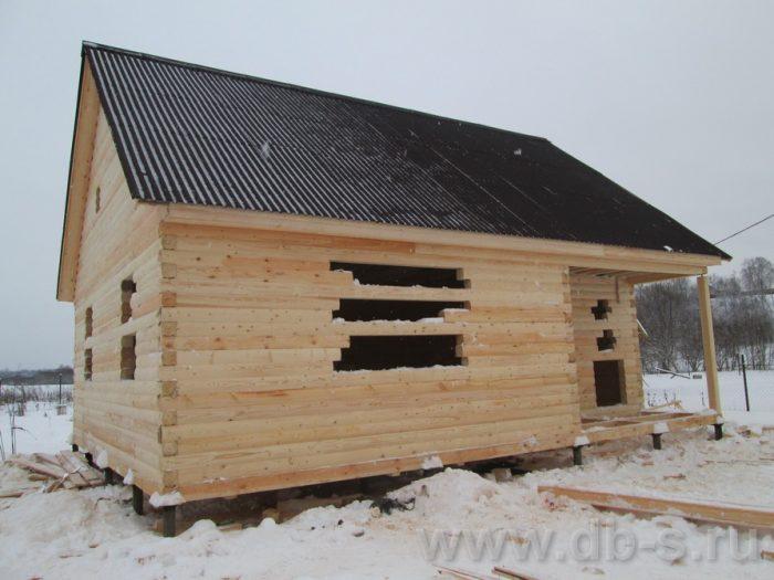Строительство сруба дома с мансардой 9 на 7.5 Волхов, Ленинградская область фото 1