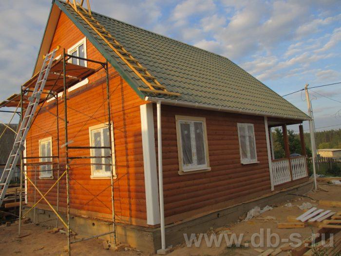 Строительство дома из бруса с мансардой 9 на 7.5 Могилёв, Беларусь фото 2