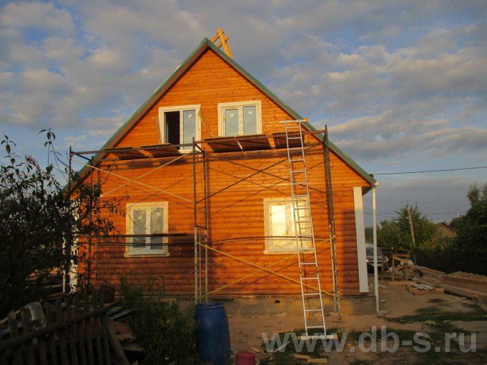Строительство дома из бруса с мансардой 9 на 7.5 Могилёв, Беларусь фото 3