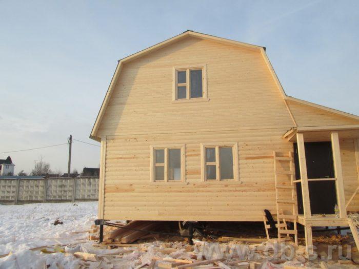 Строительство дома из бруса с мансардой 8 на 7 Сергиев Посад, Московская область фото 3