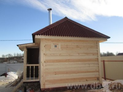 Строительство бани 6х3 г. Щёлково