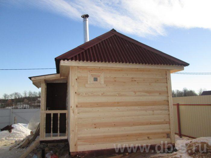 Строительство одноэтажной бани из бруса 6 на 3 Щёлково, Московская область фото 1