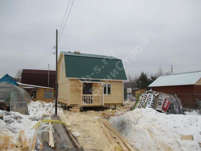 Строительство бани из бруса с мансардой 6 на 6 Электросталь, Московская область фото 2