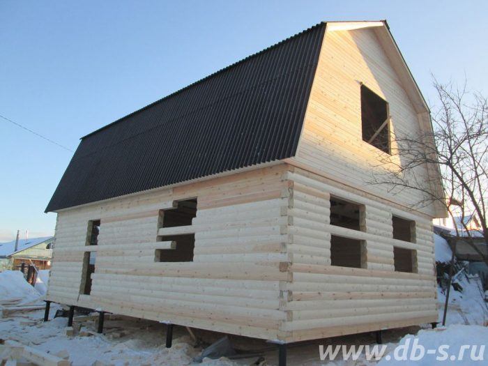 Строительство дома из бруса с мансардой 6 на 9 Владимир, Россия фото 1