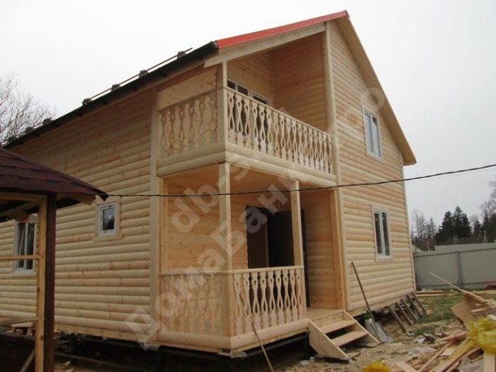 Строительство двухэтажного каркасного дома 8 на 8 Солнечногорск, Московская область фото 1