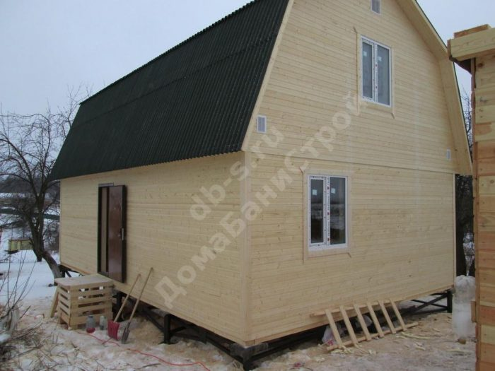 Строительство каркасного дома с мансардой 6 на 9 Заокский, Тульская область фото 2