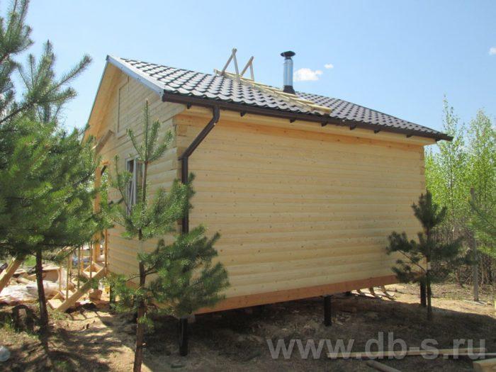 Строительство одноэтажной бани из бруса 5 на 5 Павловский Посад, Московская область фото 2