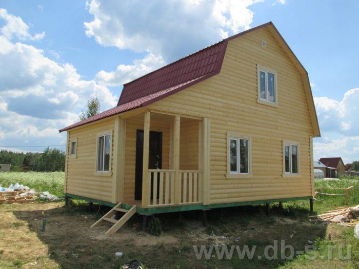Строительство каркасного дома с мансардой 8 на 6 Кировск, Ленинградская область фото 1