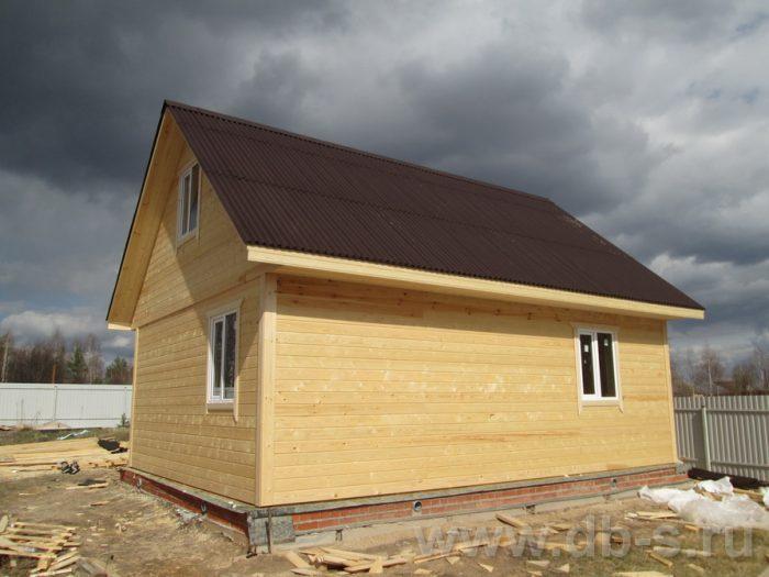 Строительство каркасного дома с мансардой 6 на 8 Спас-Клепики, Рязанская область фото 2