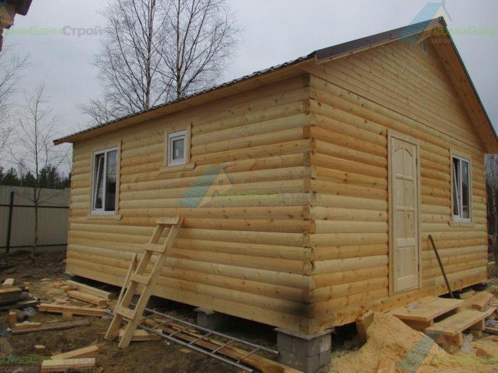 Строительство одноэтажного дома из бруса 6 на 6 Выборг, Ленинградская область фото 1