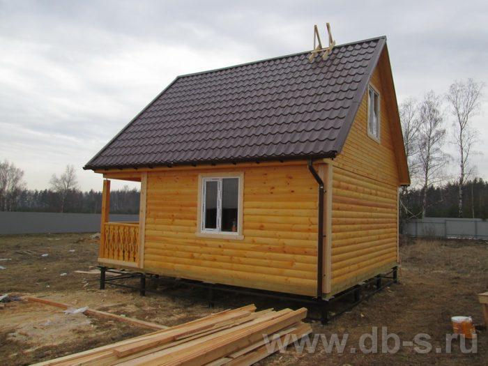 Строительство бани из бруса с мансардой 6 на 6 Лобня, Московская область фото 2