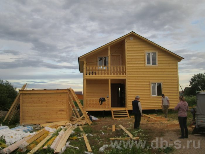 Строительство двухэтажного каркасного дома 8 на 8 Великий Новгород, Россия фото 2