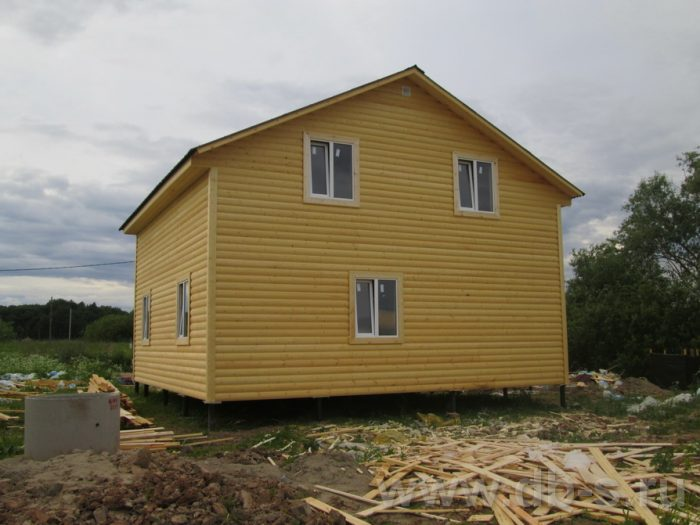 Строительство двухэтажного каркасного дома 8 на 8 Великий Новгород, Россия фото 1