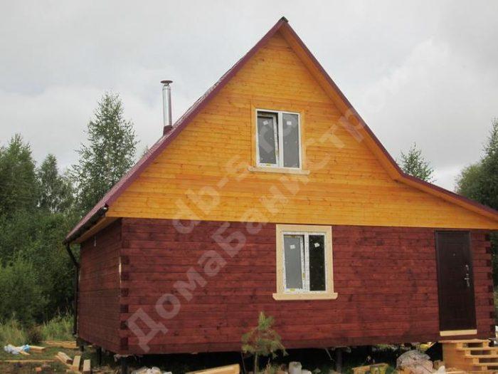 Строительство бани из бруса с мансардой 6 на 6 Ярославль, Россия фото 3