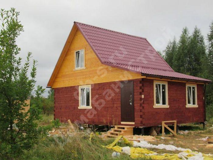 Строительство бани из бруса с мансардой 6 на 6 Ярославль, Россия фото 1