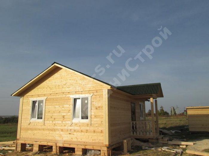 Строительство одноэтажного дома из бруса 6 на 8 Орел, Россия фото 1