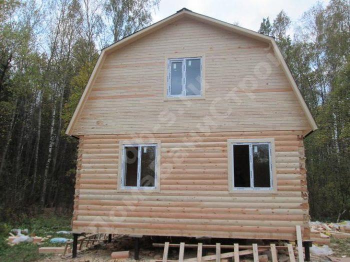 Строительство дома из бруса с мансардой 6 на 5 Жуков, Калужская область, фото 2
