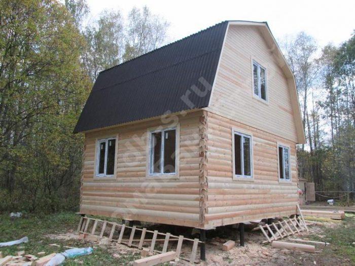 Строительство дома из бруса с мансардой 6 на 5 Жуков, Калужская область, фото 1
