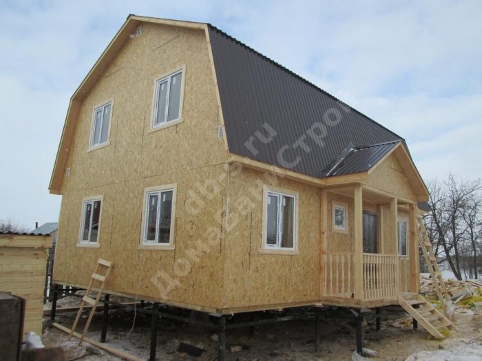 Строительство каркасного дома с мансардой 9 на 7 г. Нижний Новгород фото 1
