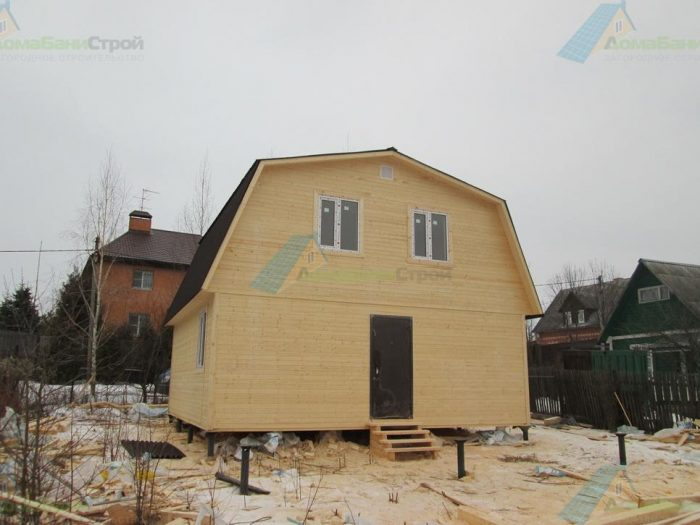 Строительство каркасного дома с мансардой 7 на 7 д. Молодцы, поселение Рязановское фото 1