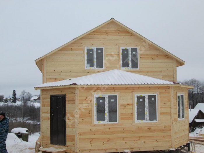 Строительство двухэтажного дома из бруса 7 на 9 Можайск, Московская область фото 2