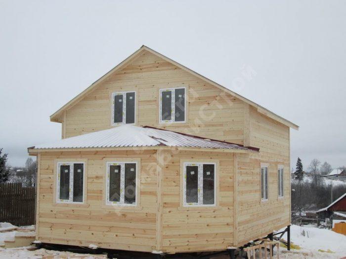 Строительство двухэтажного дома из бруса 7 на 9 Можайск, Московская область фото 1