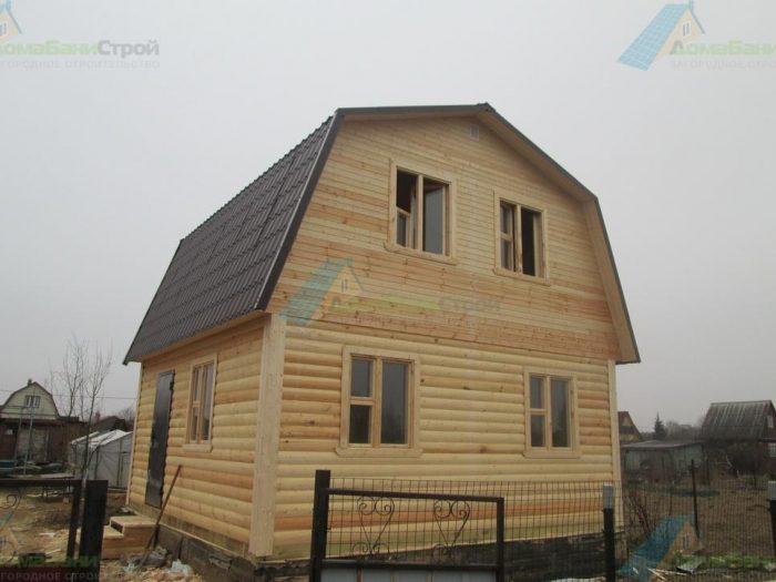 Строительство дома из бруса с мансардой 6 на 6 Клин, Московская область фото 1