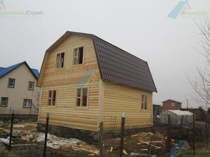 Строительство дома из бруса с мансардой 6 на 6 Клин, Московская область фото 2